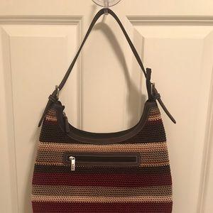 Sak Multi Colored Crochet Bag NWOT